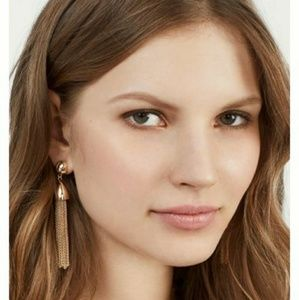 Anthropologie Baublebar Rose Gold Chain-Link Earin